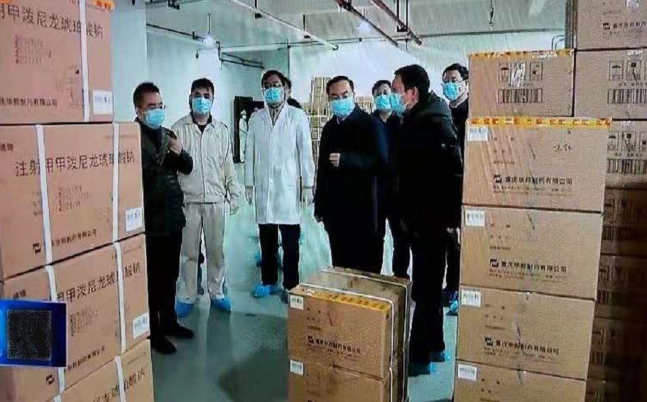 重庆市市长一行来华邦制药调研指导工作